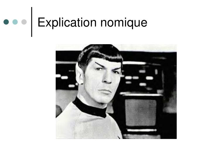Explication nomique
