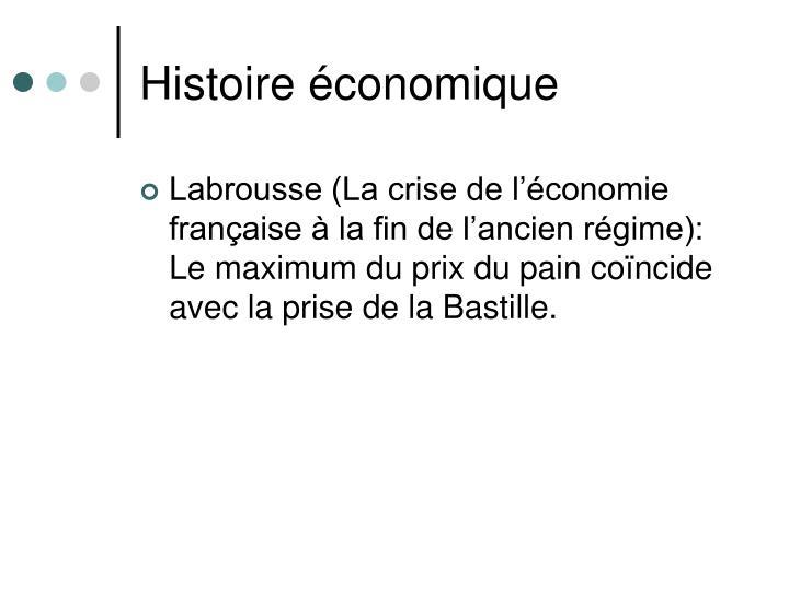 Histoire économique