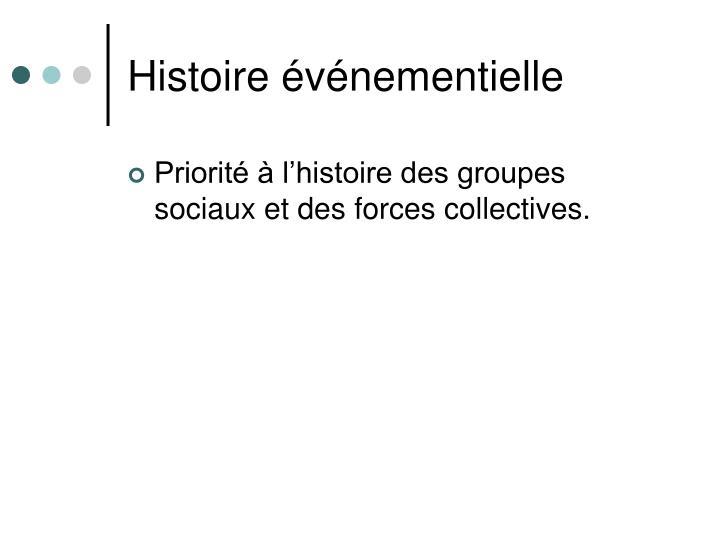 Histoire événementielle
