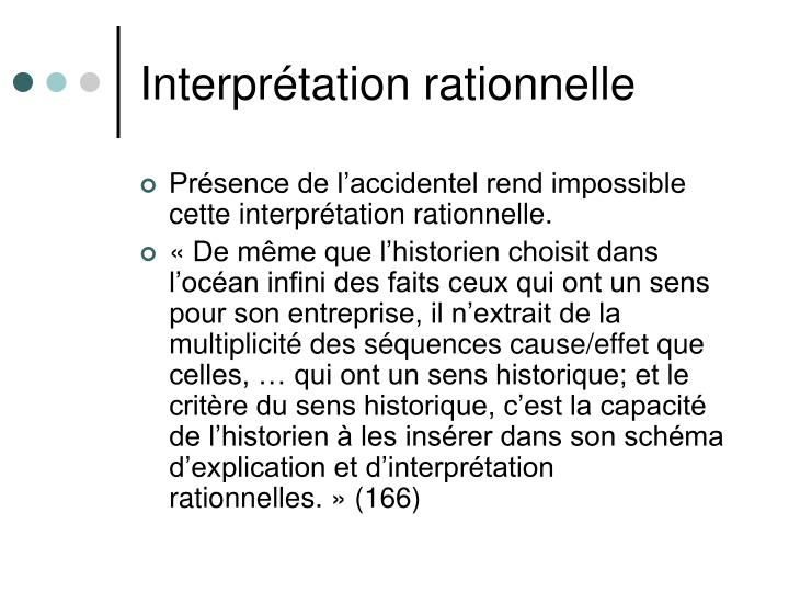 Interprétation rationnelle