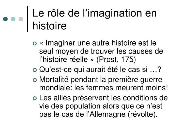 Le rôle de l'imagination en histoire