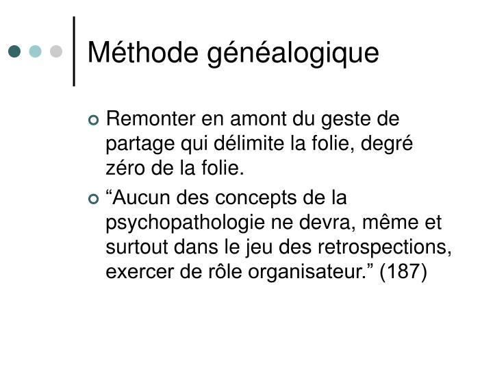 Méthode généalogique