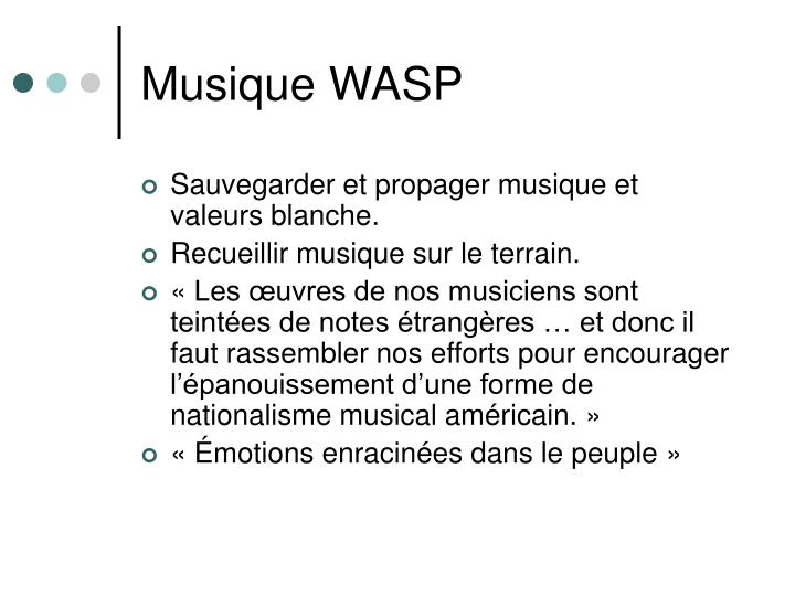 Musique WASP