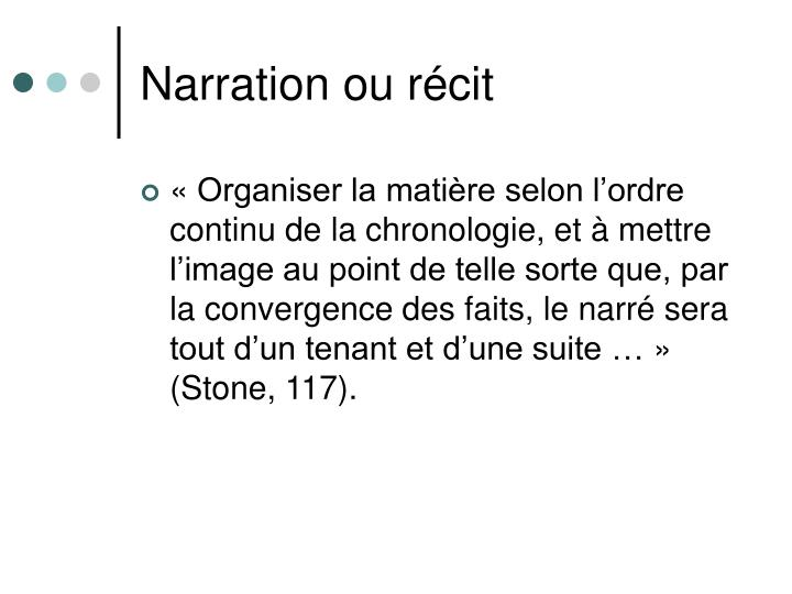 Narration ou récit