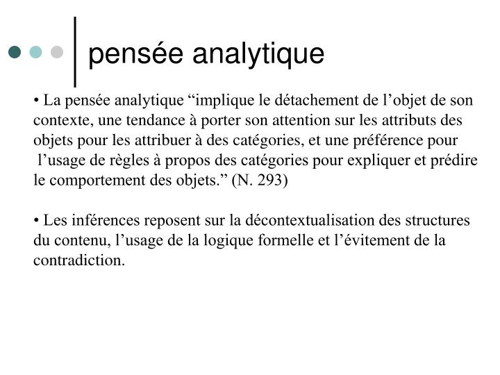 pensée analytique