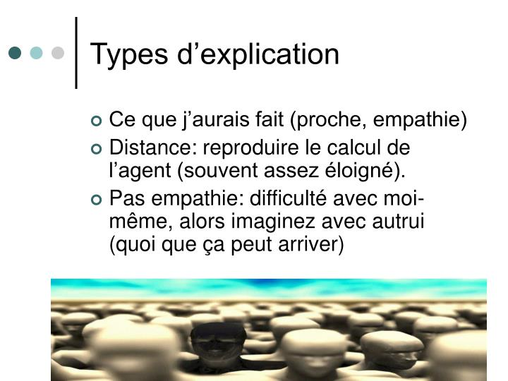Types d'explication