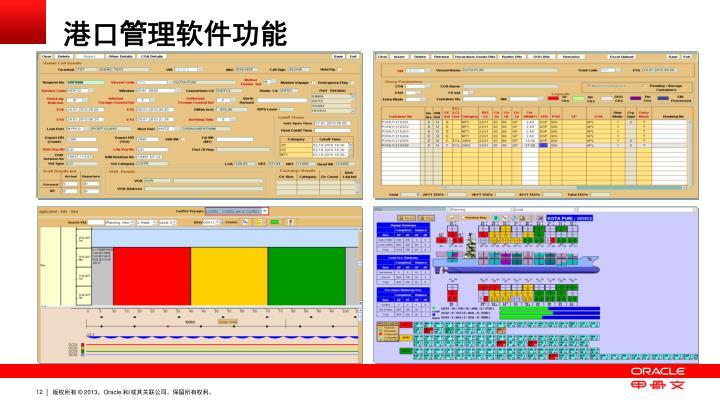 港口管理软件功能