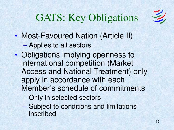 GATS: Key Obligations