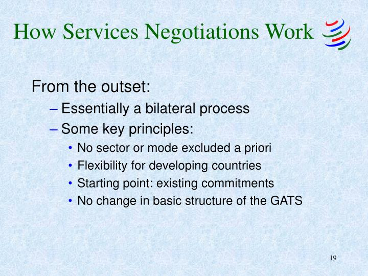 How Services Negotiations Work