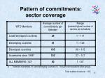 pattern of commitments sector coverage