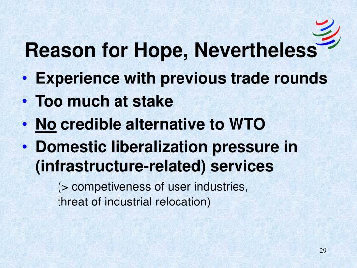 Reason for Hope, Nevertheless
