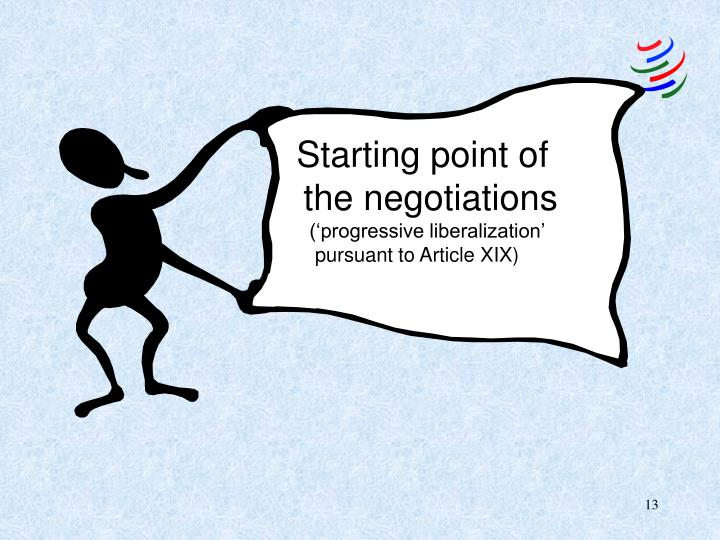 Starting point of the negotiations
