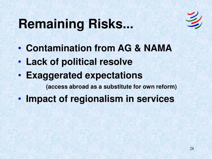 Remaining Risks...