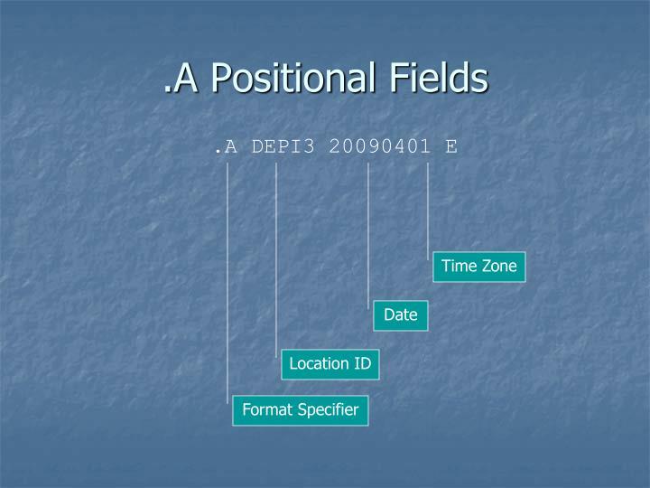 .A Positional Fields