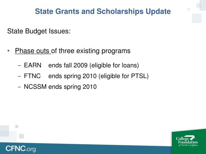 State grants and scholarships update1