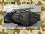 history of tanks1