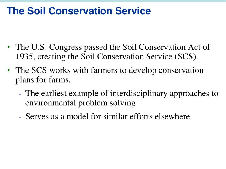 The Soil Conservation Service