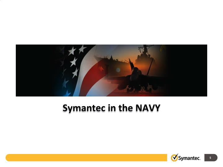 Symantec in the NAVY
