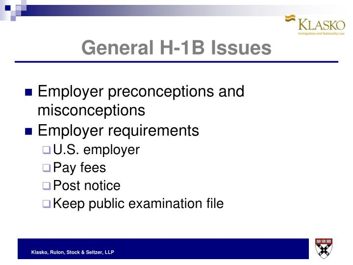 General H-1B Issues