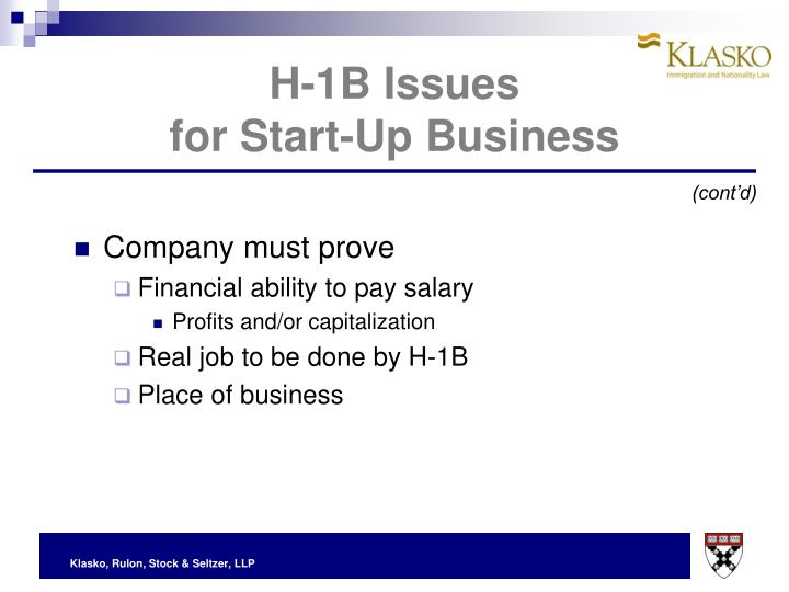 H-1B Issues