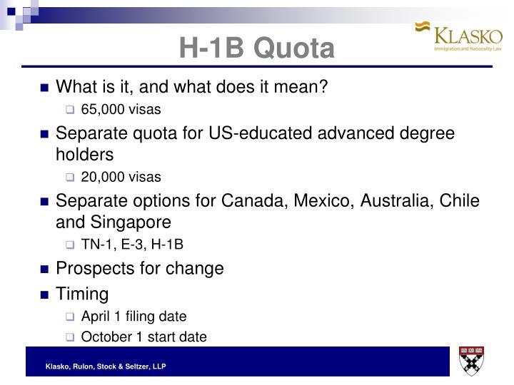H-1B Quota