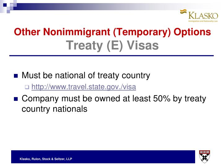 Other Nonimmigrant (Temporary) Options