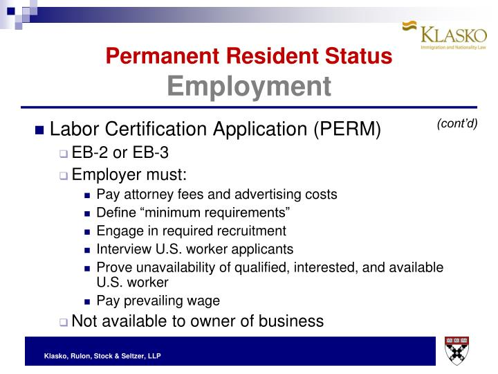 Labor Certification Application (PERM)
