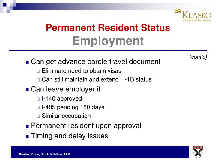 Permanent Resident Status