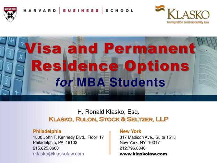 Visa and Permanent Residence