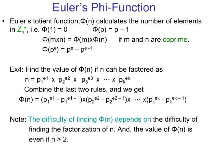 Euler's Phi-Function