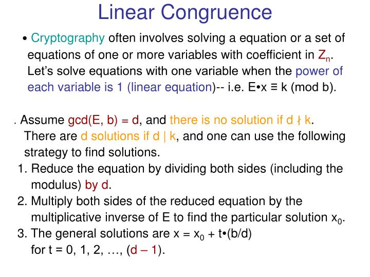 Linear Congruence