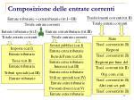 composizione delle entrate correnti