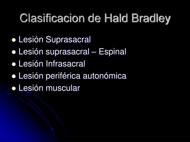 Clasificacion de Hald Bradley