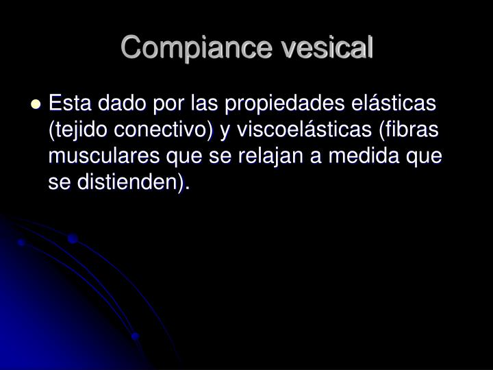 Compiance vesical
