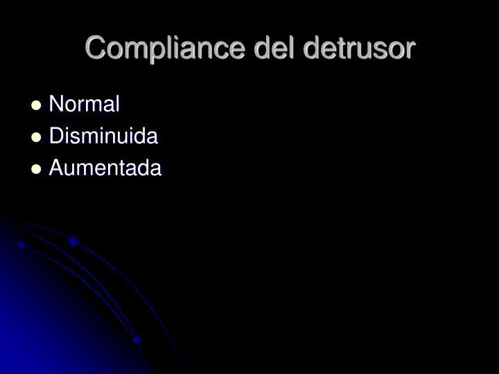 Compliance del detrusor