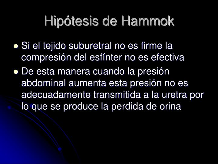 Hipótesis de Hammok