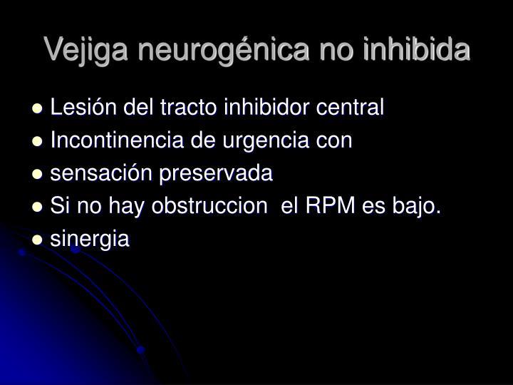 Vejiga neurogénica no inhibida