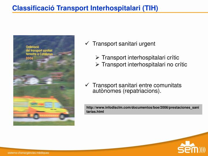 Transport sanitari urgent