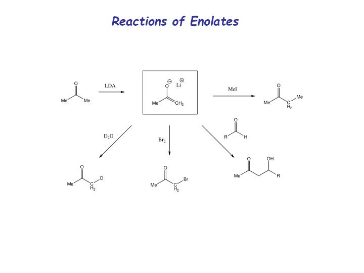 Reactions of Enolates