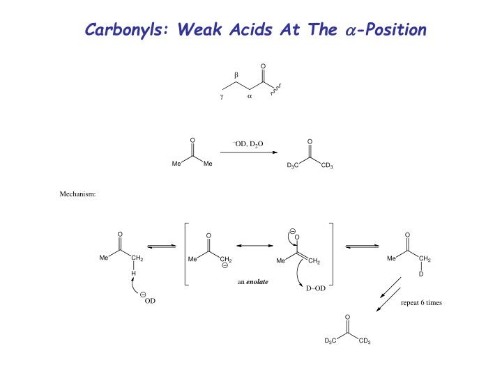 Carbonyls: Weak Acids At The