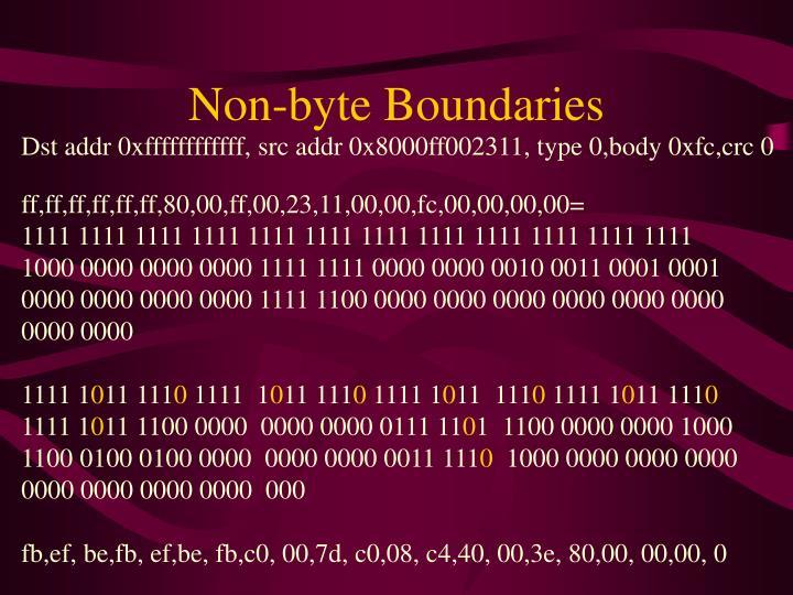 Non-byte Boundaries