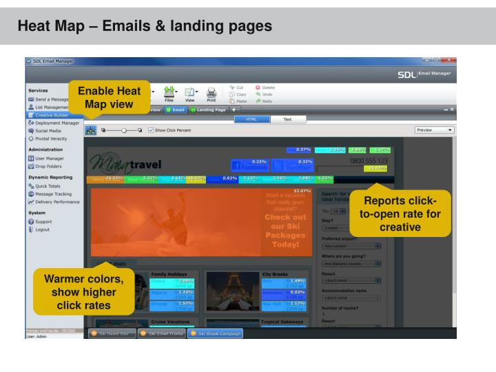 Heat Map – Emails & landing pages
