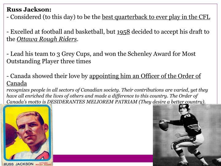 Russ Jackson: