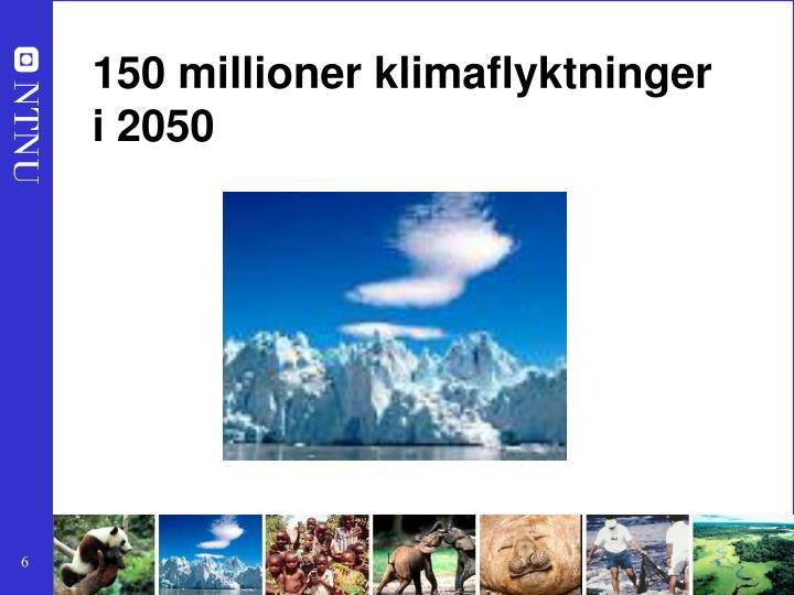 150 millioner klimaflyktninger
