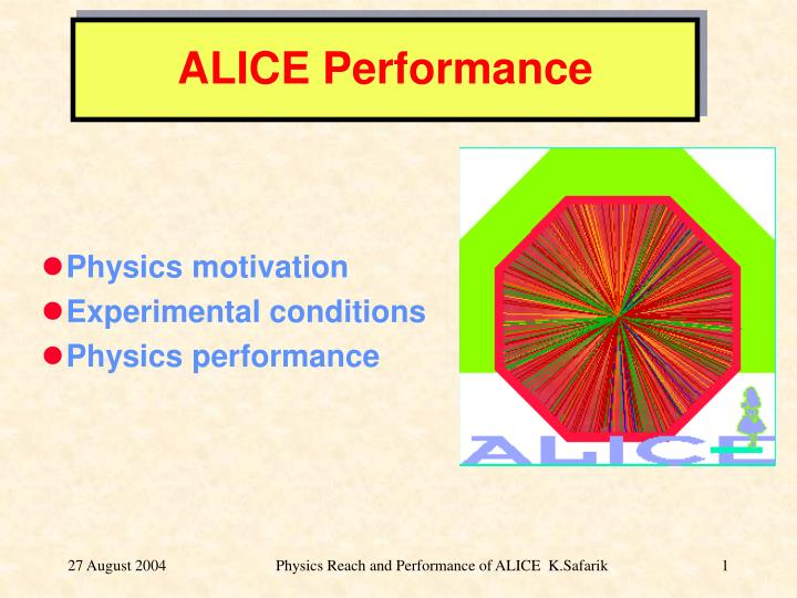 ALICE Performance