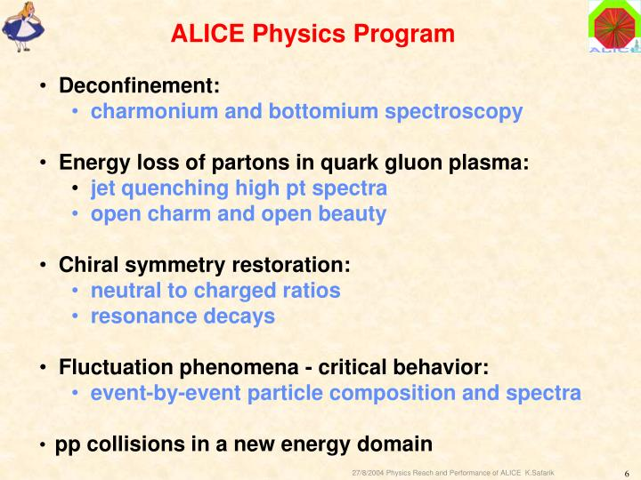 ALICE Physics Program