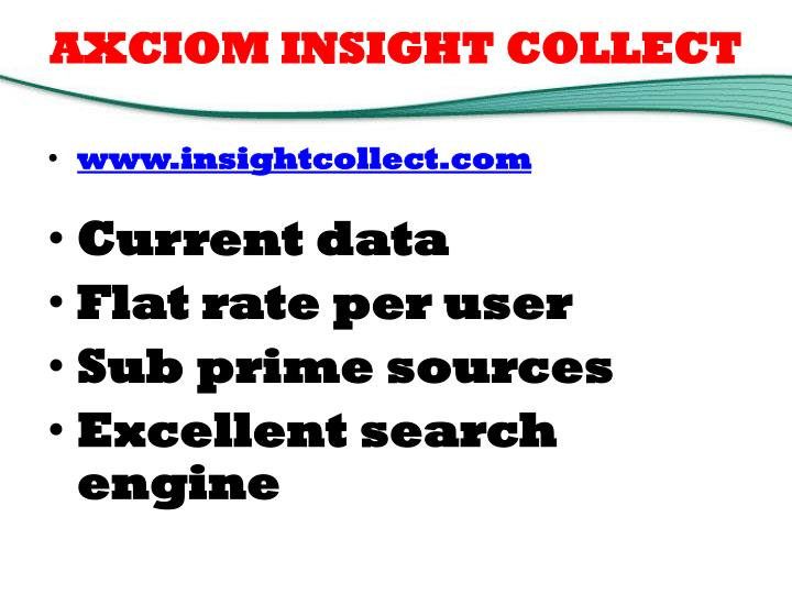 AXCIOM INSIGHT COLLECT