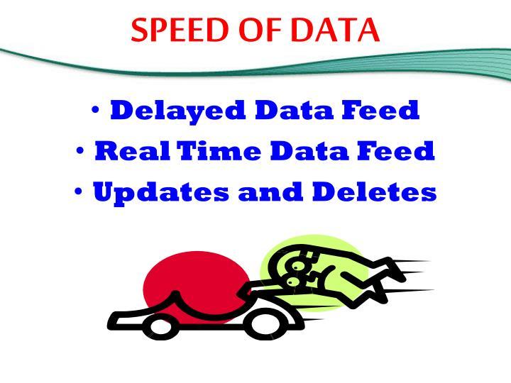 SPEED OF DATA