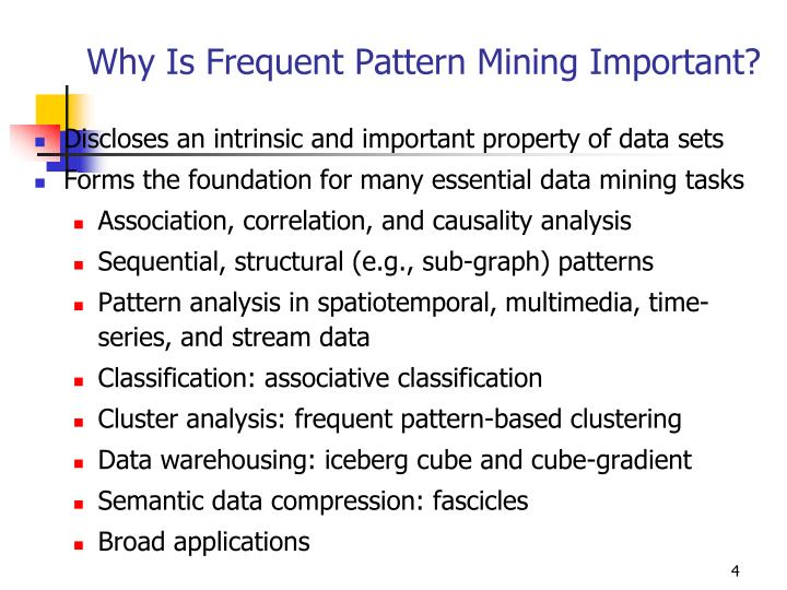 Why Is Frequent Pattern Mining Important?