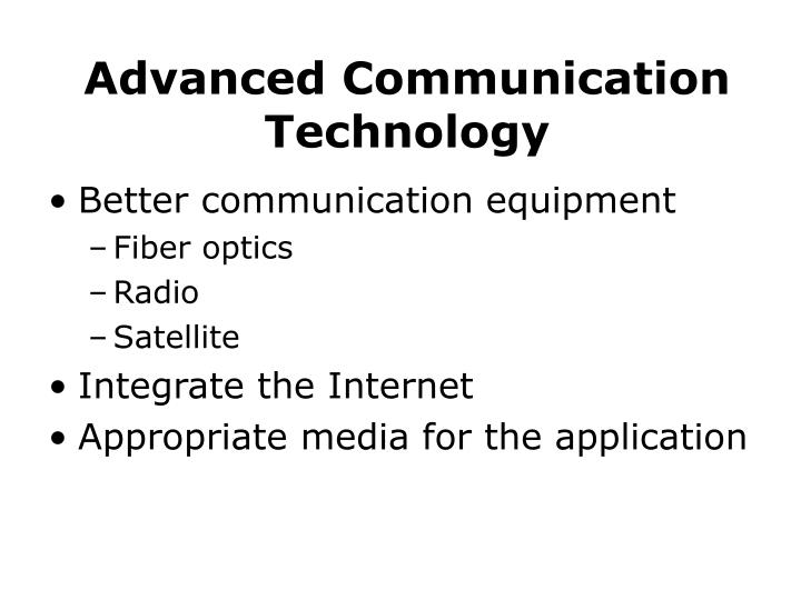 Advanced Communication Technology